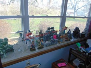 large group of decorative statues approx 26