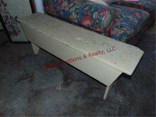 Wood bench 48 x 11 5 x 17