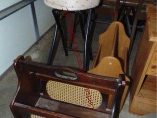 Folding stool  2 magazine racks