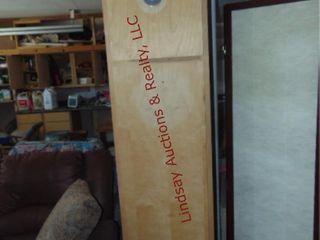 Wood 2 door cabinet approx 18 x 24 x 84