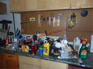 large group of misc  lights  fluids  hardware