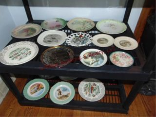 Approx 17 various decorative plates SEE PICS