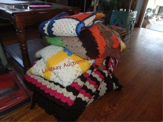 Group of blankets various sizes