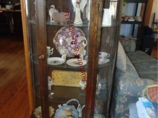 Display cabinet w  3 glass shelves  30 x14 5 x62