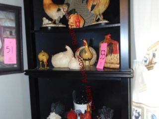 Approx 15 pcs of hen   rooster decor