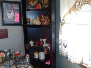 Wood corner cabinet 30 x26 x 84  NO Contents