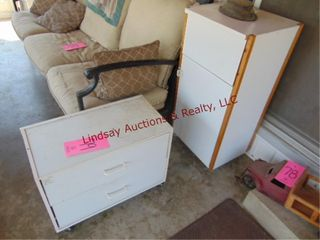 2 Cabinets WITH CONTENTS  24 x13  x 19
