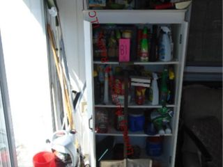 Cabinet WITH gardening contents 30  x 16  x 61