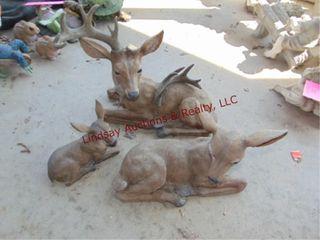3 deer statues  need repair