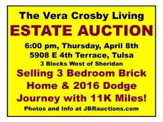 ONLINE ONLY Crosby Estate Personal Property – Tulsa