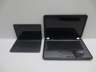 lot of 2  HP laptop and ASUS Tablet for parts or repair