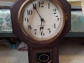 Seth Thomas Wall Clock   Missing Glass