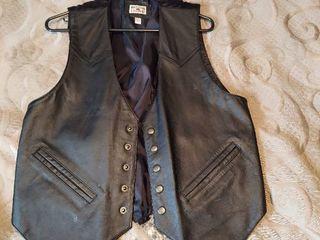 leather Frint Vest   Size M