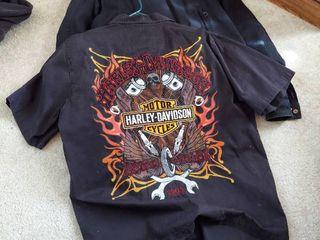 Harley Davidson Shirt and Coat   Size l