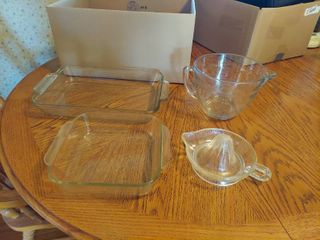 Baking Dishes  Juicer and Measuring Cup