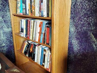 Oak Bookshelf   Contents Not Included