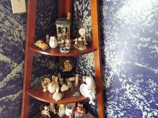 All Decor on Corner Shelf and on Desk