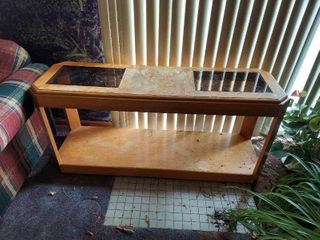 Sofa Table   Plant Stand   Some Finish Missing on Top