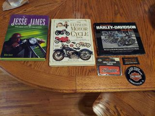 Motorcycle Books and Patches