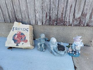 Painted Rock and Resin Yard Decor