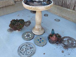 Birdbath and Yard Decor