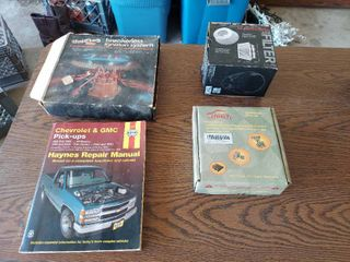 Automotive Items   Air Filter  Exhaust Wrap and Repair Manual
