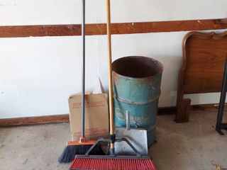 Assorted Brooms and Dustpans
