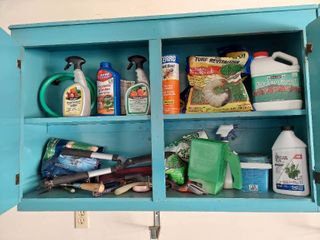 Assorted lawn and Garden Tools and Chemicals