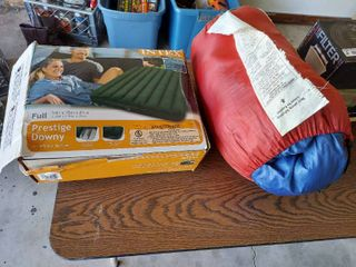 Full Size Inflatable Mattress and Sleeping Bag