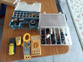 Organizer with Electrical Items