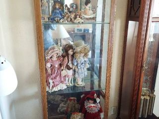 Side Entry Curio Cabinet   Contents Not Included
