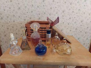 Perfume Bottles with Basket