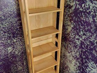 Oak Folding Shelf Unit   Good for DVDs