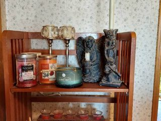 Assorted Candles  Candle Holders and Wax Warmer