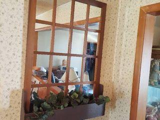 Mirrored Window with Planter Box