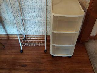 3 Drawer Organizer and White Metal Shelf