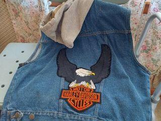 Denim Vest with Harley Patch