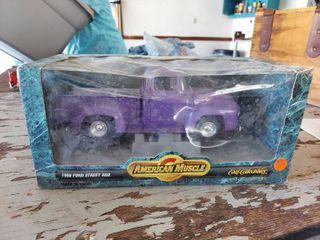 1 18 American Muscle 1956 Ford Street Rod Pickup Purple