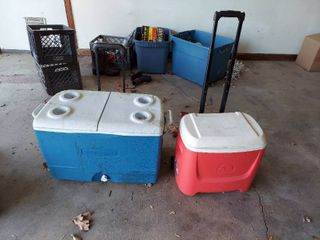 2 Coolers on Wheels