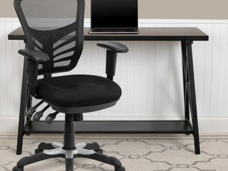 Swivel Task Chair with Triple Paddle Control Black Mesh   Flash Furniture
