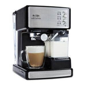 Mr  Coffee Cafe Barista Black   Silver Espresso Maker