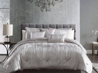 Queen 7pc Turin Comforter Set Silver   Riverbrook Home