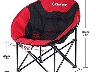 Kingcamp lightweight Moon leisure Chair For Camping Outdoor Garden Fishing  red