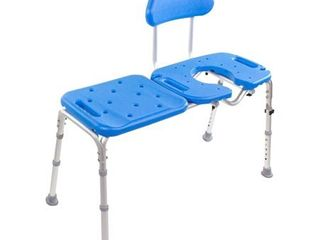 Bath Transfer Bench with CUTOUT Deluxe All ACCESS for Tub and Shower Transfers