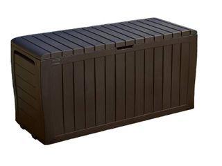 Keter Marvel Plus 71 Gallon Outdoor Storage Deck Box  Espresso Brown