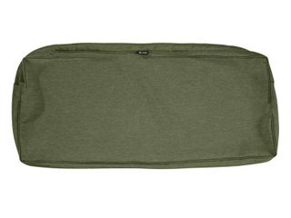 Classic Accessories Montlake Water Resistant 59 x 18 x 3 Inch Patio Bench Settee Cushion Slip Cover  Heather Fern Green