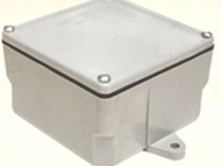 CANTEX 5133710 Electrical Box  PVC  6 3 4  x 6 3 4  x 4 1 8  3 gang