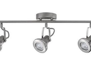 BNIB New Hampton Bay 2 ft  3 light Brushed Steel lED Track lighting Kit