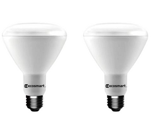 EcoSmart 75W Equivalent Daylight BR30 Dimmable lED light Bulb  2 Pack