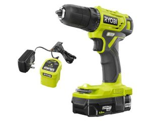 RYOBI 18 Volt ONE  Cordless 3 8 in  Drill Driver Kit with 1 5 Ah Battery and Charger